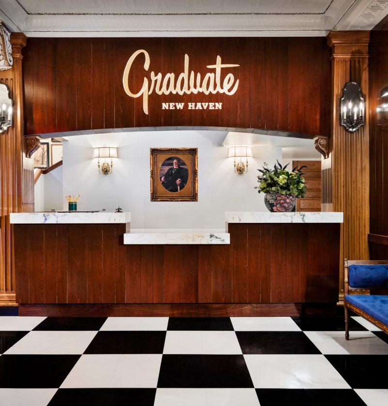 Graduate New Haven reception area